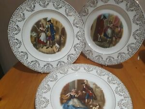 """Staffordshire """"Set of 3 stunning plates"""" -  Part of Cries of London Collection"""