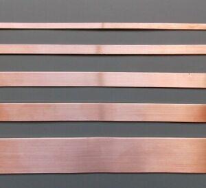Copper Strip / Bar/ Tape/ - 3mm - 4mm - 5mm - 6mm -7mm - 8mm -10mm -12mm -15mm
