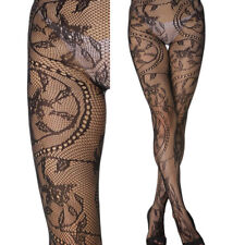 Floral Ivy Lace Chain Sheer Sexy Stockings Tights Detailed Fishnet Pantyhose OS