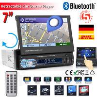 """7"""" Zoll 1 DIN Autoradio mit GPS Navigation Navigationsgerät Bluetooth USB SD MP3"""
