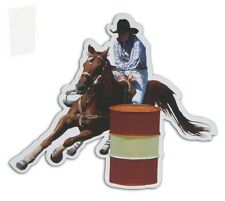 """Barrel Racing Racer Horse Auto Truck Trailer Safe Attaches to Metal Magnet 8x9"""""""