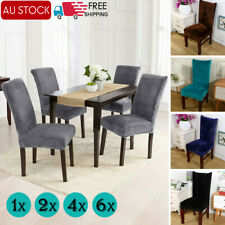 1/2/4/6PCS Dining Chair Covers Removable Elastic Stretch Slipcover Room Seat Lot