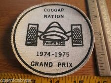 1974-75 Grand Prix Cougar Nation iron on patch pine wood derby ? Boy Scouts