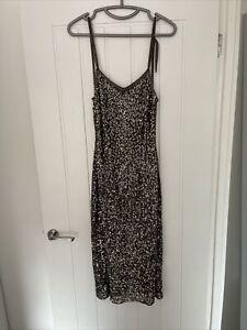 Ladies Miss Selfridge Sequin Dress Size 10