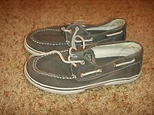 Sperry Top Sider Halyard Gray Stone Wash Size 2.5M Youth