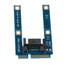 mSATA Mini Extender to 7 Pin SATA HDD Convert Card Adapter MF UK STOCK