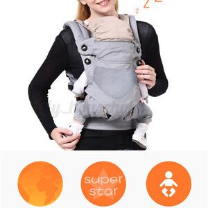 Ergonomische Babytrage Kindertrage Bauchtrage Rückentrage 4 Atmungsaktiv
