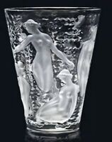 Large Lalique Ondines Crystal Nudes Vase Gorgeous Perfection # 123800