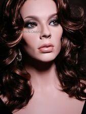 Female mannequin wig bust HAZEL GLASS EYES!