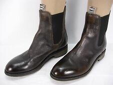 DIRK BIKKEMBERGS BKE 1040  BROWN LEATHER PULL ON ANKLE BOOTS MEN'S 41