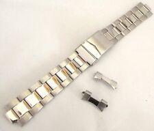 bracciale oyster acciaio doppia chiusura compatibile rolex ansa curva 18 mm