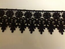 NEW MEDALLION PATTERN BLACK VENISE LACE FABRIC TRIM