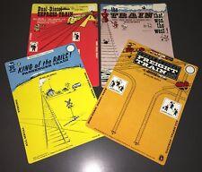 1972 MIDGETOY UNUSED DICAST TRAIN PLAYSET HANG CARDS - MIDGETOY ARCHIVES - MINT!