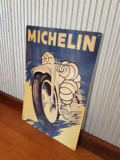 Large Michelin Man Motorbike Metal tin sign Man cave bar Garage Tyres Tires