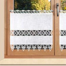 Landhausgardine  Rebecca mit Plauener Spitze® weiß 60 cm Scheibengardine 3590