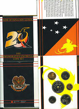 PAPUA NEW GUINEA: 1995 OFFICIAL GOVERNMENT MINT UNCIRCULATED SET, 0.01-1 KINA