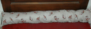 "Extra Long Top Quality Fabric Draught Excluder, Squirrels 37"" long"