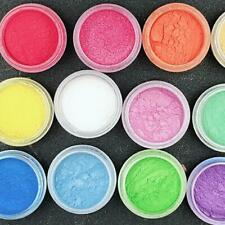 15Box/Set Natural Mica Pigment Powder Fit Soap Cosmetics Resin Nail Colorant Dye
