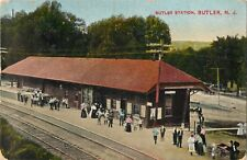 A View Of People Waiting For A Train, Butler Station, Butler, New Jersey NJ 1910