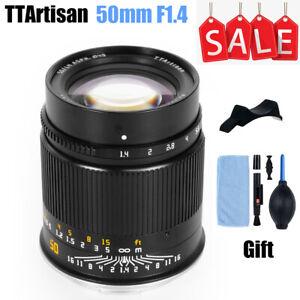 TTArtisan 50mm F1.4 Full Frame MF Lens for Sony E Nikon Z Canon R Leica L