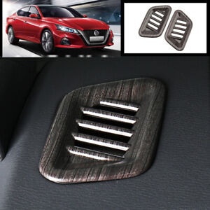 For Nissan Teana Altima 2019-2020 Wood grain dashboard L&R air outlet vent trim