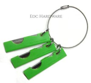 Derma-Safe Razor Knife 3 Pack with Cable Ring EDC IFAK SERE Survival HR207 GREEN