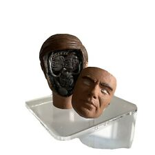 Six Million Dollar Man John Saxon Maskatron Head Removeable Face 1/6 Custom Made