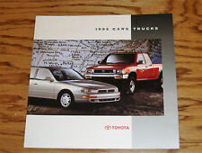 Original 1992 Toyota Car & Truck Full Line Sales Brochure 92 Supra MR2 4Runner