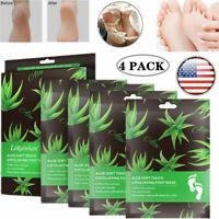 4 PACK Callus Peeling Dead Skin Remove Smooth Exfoliating Rough Feet Peel Mask
