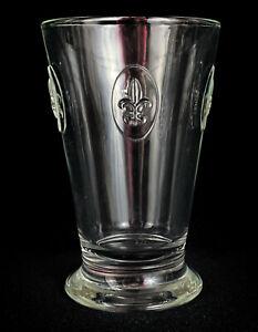 La Rochere Clairey France Fleur De Lys Highball Tumbler Glass Barware Vintage