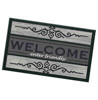 Zerbino ingresso 40x70 gomma antiscivolo WELCOME moderno tappeto esterno casa