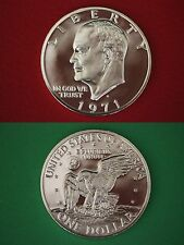 1971-S 40% Silver Proof Eisenhower Dollar Ike Deep Cameo Flat Rate Shipping