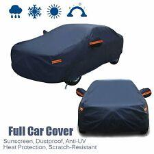 Full Car Cover Dark Blue Waterproof Rain Snow Heat Dust Resistant Protection