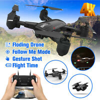 RC Drone With 4K FPV HD Camera 2.4G RC Selfie Foldable Arm Quadcopter Aircraft