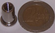 100 Edelstahl A2 Nietmuttern M5 Flachkopf 0,5-3,0mm