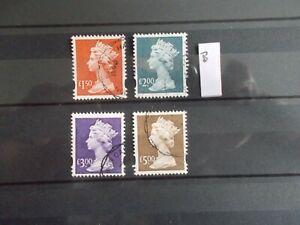 GB 1999~2000 Machin Stamps Set~£1.50~£5~4 Values~Fine Used Set ~SG Y1800-Y1803~B