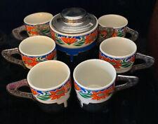 Vintage Weidmann Porzellan Demitasse Six Cups Sugar Bowl, Italy