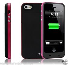 for iPhone 5 5s SE 2500mah Charger Case Black Pink Rechargeable Backup Power