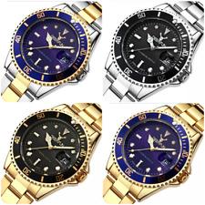 Luxury brand mens womens stainless steel watch water resistant quartz gift Xmas
