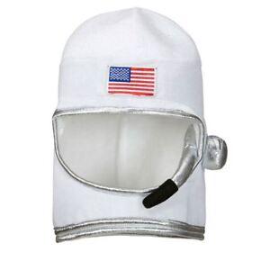Adult Astronaut Helmet Spaceman NASA Sci Fi Fancy Dress Costume Hat