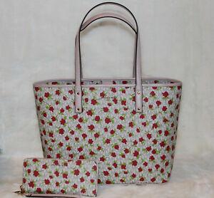 Michael Kors Carter Large Signature Tote Bag & Wallet Handbag Purse Set $436 NWT