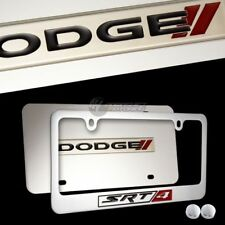 DODGE SRT-4 Mirror Stainless Steel License Plate Frame 3D - 2PCS FRONT & BACK