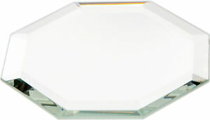 Plymor Octagon 3mm Beveled Glass Mirror, 2.5 inch x 2.5 inch (Pack of 12)