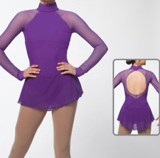 Purple Figure Skating Dresses Custom Women Competition Skating Dress Girls
