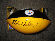 MIKE WALLACE Pittsburgh Steeler Signed Football FULL