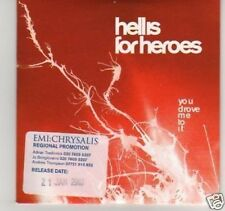 (C878) HeLL Is For Heroes, You Drove Me To It  - DJ CD