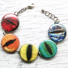 rainbow animal creature eye ball bracelet charm halloween lizard snake halloween