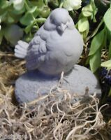 Latex bird on rock mold plaster concrete casting mould