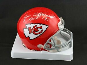 Jan Stenerud SIGNED Kansas City Chiefs Mini Helmet + HOF 91 PSA/DNA AUTOGRAPHED