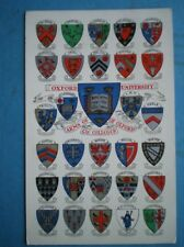 POSTCARD OXFORDSHIRE OXFORD UNIVERSITY COAT OF ARMS